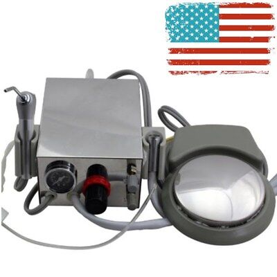 Dental Portable Turbine Unit Work With Air Compressor 2-holes 16cm12cm8cm