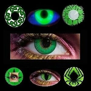 Lentille de couleur verte lens color contact us vampire chat Neuf 400