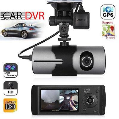 Car DVR Camera Video Recorder Dash Cam G-Sensor Night Vision Dual Lens GPS G-Map