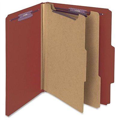 Smead 14075 Red Pressboard Classification Folder With Safeshield Fasteners -