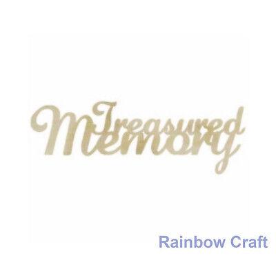 Kaisercraft Wooden Embellishments flourish Pack 18 wording / patterns U select - Treasured Memory
