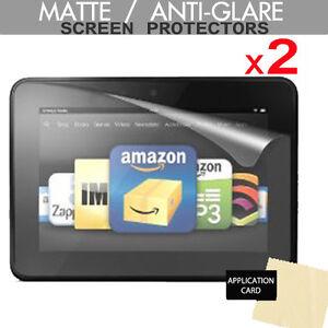 2 Pack ANTI-GLARE / MATTE Screen Protectors for Amazon Kindle Fire HD 7.0 (2012)