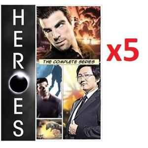 NEW 5PK HEROES: THE COMPLETE SERIES 221211413 ONE CASE OF 5 MOVIES DVD BOX SET