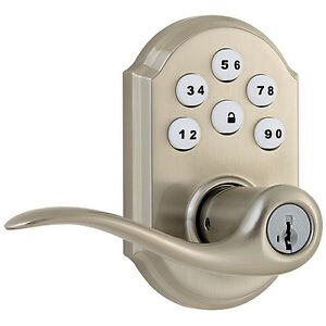 Entrance lever with electronic Lock