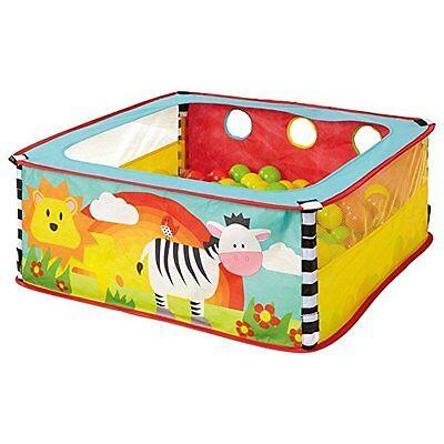 World's Apart A-Zebra square sensory ball pit inc bean bag jingle crincle, multi