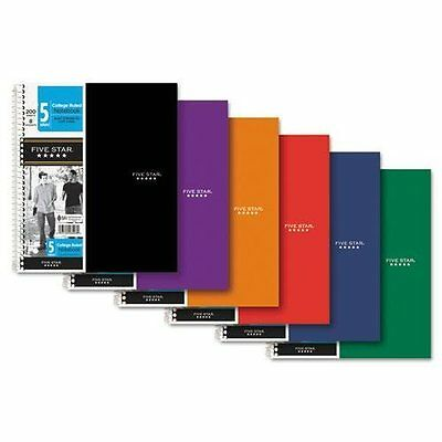 Mead 06208 Notebook 5-subject8-pocket 200 Shts 11x8-12 Assorted Color