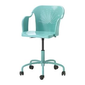 IKEA swivel desk chair - turquoise