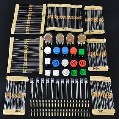 Electronic Parts Pack KIT for ARDUINO component Resistors Switch Button GX