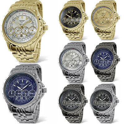 SMART MENS BOYS WRIST WATCH QUARTZ MOVEMENT BUSINESS CASUAL WATCHES METAL STRAP