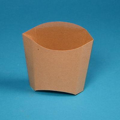 1000 Pommesschütten Pommes Verpackungen mittel 85ml 80x48x71mm braun natur