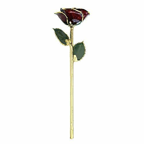 Forever Rose Genuine  Real Frozen Sparkle Rose Hand Dipped & Trimmed in 24K Gold