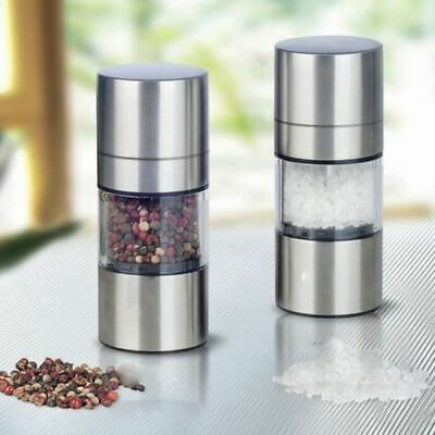 Stainless Steel Manual Pepper Salt Spice Mill 2 In 1 Grinder Kitchen Accessaries ()