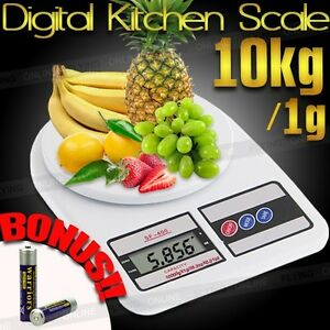10kg/1g Digital LCD Electronic Kitchen Scale Food Weighing Postal Scales 10000g