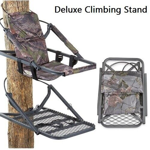 Climber Tree Stand Extreme Deer Hunting Deluxe Climbing Stands With Harnes New