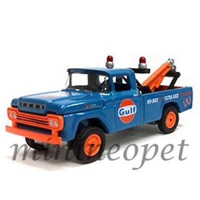 Johnny Lightning Jlcp7034 1959 Ford F 250 Tow Truck Gulf 1 64 Diecast Blue