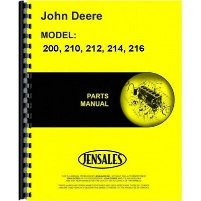 John Deere 200 210 212 214 216 Lawn Garden Tractor Parts Manual Catalog Pc1473