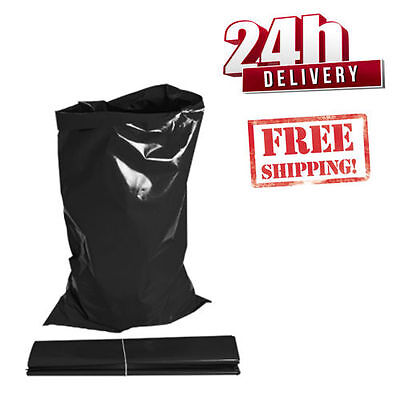 100 x EXTRA STRONG HEAVY DUTY *  BLACK*  RUBBLE BAGS/SACKS.  30 kg High Strength