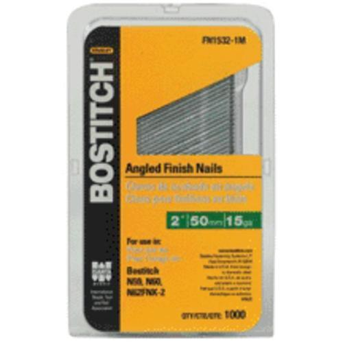 Bostitch FN1540-1MSS Finish Nail, 15 Gauge, 2-1/2""