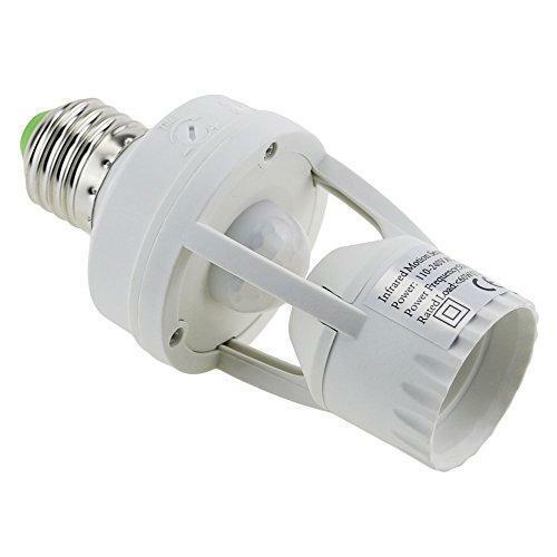 E-Age Ajustable 360 Degree Infrared Motion PIR Sensor Automatic LED Light Lamp