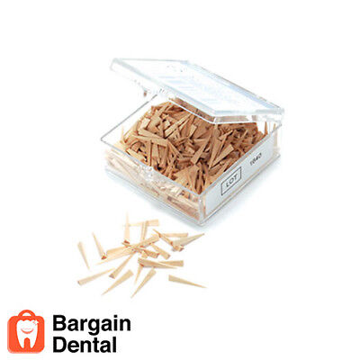 Dental Waterpik Wizard Matrix Wood Wedges 500 Small Ref 061211-000