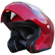 Motorcycle Helmets Modular Red