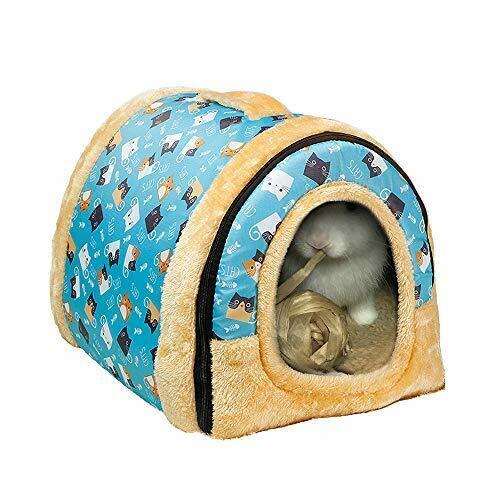 Rabbit Bed Tent Large Sleeping House Warm Fleece Hideout Foldable Cave Winter Hu