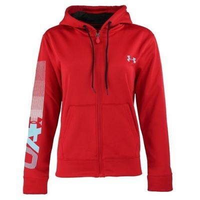 New With Tags Womens Under Armour Cold Gear Logo Athletic Gym Full Zip Hoodie ()