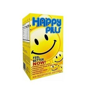 Brain Pharma HAPPY PILLS 60 Caps - BOOST MOOD & ENERGY Burn Fat