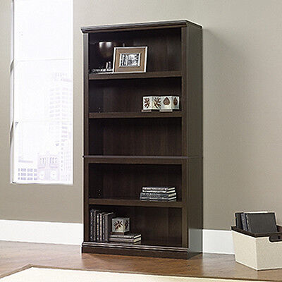 مكتبة كتب جديد 5-Shelf Bookcase – Cinnamon Cherry – Sauder Select Collection (410174)