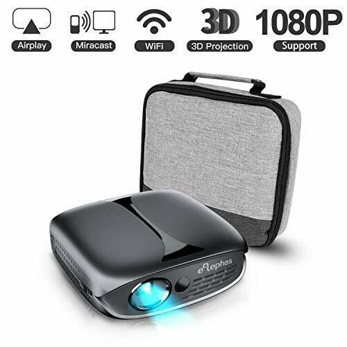 Mini Projector, ELEPHAS WiFi DLP HD Portable Pico 3D Video P