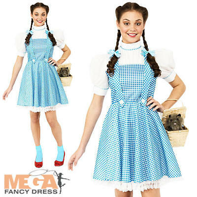 Wizard of Oz Dorothy Ladies Fancy Dress World Book Day Womens Adult Costume 6-16