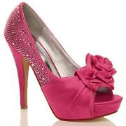Ladies Pink Shoes Size 8