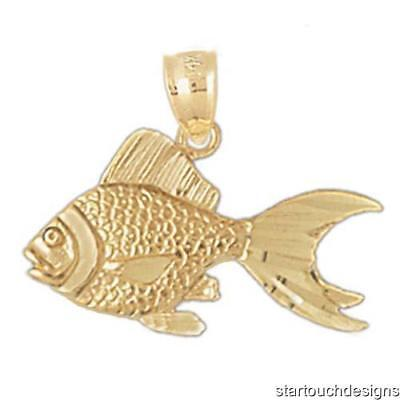 New 14k Yellow Gold Goldfish (14k Yellow Gold Goldfish Pendant)