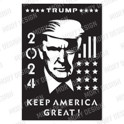 Dxf File For Cnc Plasma Router Laser Cut Vector Dxf Cdr Files Usa Trump 2020
