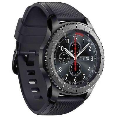 Samsung Gear S3 Frontier SM-R760 Smartwatch Uhr 4GB Tizen OLED Spacegrau