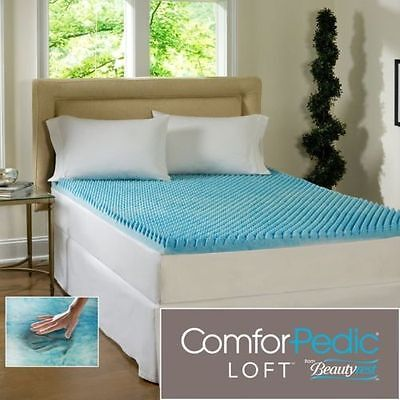 "NEW! COOL 3"" TEXTURED ULTIMATE MAX COMFORT MEMORY FOAM GEL B"