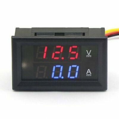 Mini Digital Voltmeter Ammeter Dc 100v 50a Volt Voltage Current Meter Tester Usa