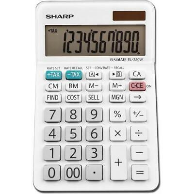 Sharp Calculators EL-330WB 10-Digit Professional Desktop Calculator EL330WB