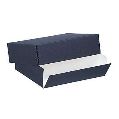 Lineco Black 11x17 Museum Storage Box Removable Lid and Drop Front Design. Ar...