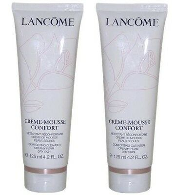 2x Lancome Creme Mousse Confort Cleanser Dry Skin Types 125ml x2 New - Lancome-creme