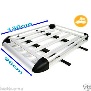 NEW-1-3m-CAR-4WD-ROOF-RACK-LUGGAGE-CAGE-BASKET-CARGO-CARRIER-BOX-ALUMINIUM