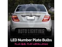 MERCEDES C-CLASS W204 XENON ICE WHITE LED NUMBER PLATE LIGHT ERROR FREE BULBS