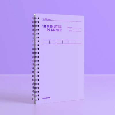 10 Minutes Planner for 100 Days / Study Planner By Motemote (Violet)