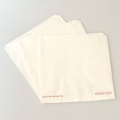 1000 x White Greaseproof Paper Bags 10