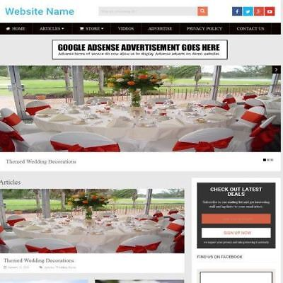 Wedding Store - Work From Home Online Business Website For Sale Domain Host