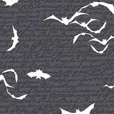 Mr. Chillingsworth's Spooky Ride Halloween Fabric Bats On Black Premium Cotton ](Mr Halloween)