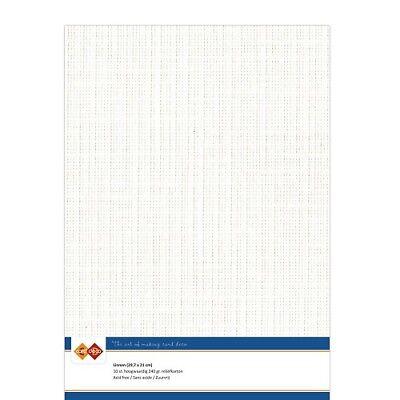 (EUR 4,81/m²) Leinenkarton 10xA4-Bogen gebrochen weiss 32