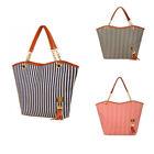 Canvas Tote Striped Handbags