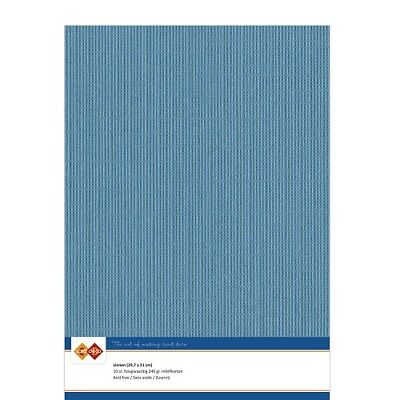 (EUR 4,81/m²) Leinenkarton 10xA4-Bogen türkis 40
