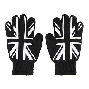 New-Punk-Mens-UK-United-Kingdom-Great-Britain-Union-Jack-Flag-Black-Work-Gloves